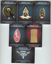 2014 Star Trek Aliens Badge Pin Set Of 6 VERY RARE Cards! Rittenhouse Archives!
