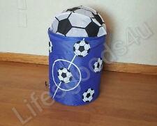 Kids Brand New Pop Up Portable kids Clothes hamper/Basket Blue/White Soccer Ball