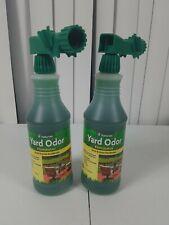 Lot of 2 NaturVet Yard Odor Eliminator, (31.6 fl.oz per bottle)
