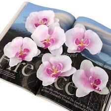 20pcs Artificial Silk Butterfly Orchid Flower Heads Hair Decor DIY Corsage