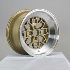 4 ROTA WHEEL ALEICA 15x8 4X100 15 ROYAL GOLD MIATA XA XB VW MR2