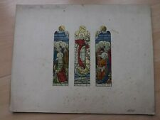 More details for original jones & willis w/c stained glass window design llandudno church c1903