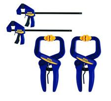 Irwin 4 Pieces Quick-Grip One-Handed Handi & Bar Clamps Set Woodworking Hobby