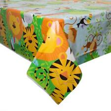 ANIMAL JUNGLE PLASTIC PARTY TABLE COVER LION TIGER ZEBRA NEW GIFT