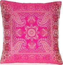Rosa Seide Kissenbezug | Zierkissenbezug | Handgefertigt aus Indien 40cmx40cm