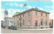 Vintage Postcard-U.S. Post Office and Reformed Church, Carlisle, PA