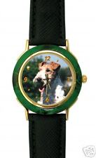 Montre Chien FOX TERRIER  -  Watch with FOX TERRIER DOG