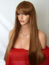 Auburn Ginger Fashion long straight full fringe costume Lady Womens Full Wig N10