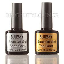 Bluesky Nail Polish Top & Base Coat Set UV/LED soak off gel free postage