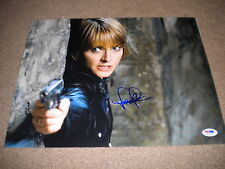 JODIE FOSTER SILENCE OF THE LAMBS SIGNED 11X14 COLOR PHOTO PSA/DNA F71015!!!!
