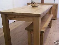 5 X 3 FT RUSTIC RECLAIMED PINE DINING TABLE & 4FT BENCH IN SOLID RECLAIMED PINE