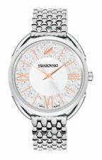 Swarovski Crystalline Glam 35 mm Case Women's Bracelet/Link Band Wristwatch - Stainless Steel, White Dial (5455108)