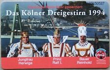 Das Kolner Dreigestirn 1994 Coca Cola Karneval Telefonkarte 6 DM New