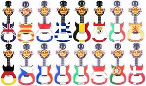 Hard Rock Cafe 2016 COUNTRY FLAG Series GUITAR MAGNET Opener > You Pick City