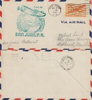 US 1941 PAN AM CLIPPER FLIGHT COVER SAN JUAN PUERTO RICO TO BATHURST GAMBIA