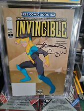 Invencible #1 Fcbd Certificado Garantía Corporation Amarillo Etiqueta 9.8 doble firma Kirkman & Walker XPO