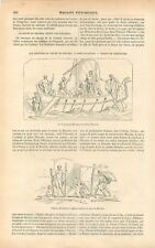 Grèce Peinture Lesché de Delphes Tableaux Polygnote Illiade Homère GRAVURE 1855