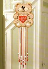 BEADED BEAR WIND CHIME PLASTIC CANVAS PATTERN INSTRUCTIONS