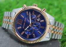 NEW GENUINE MICHAEL KORS MK8412 MENS LEXINGTON BLUE DIAL CHRONOGRAPH WATCH
