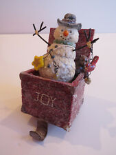 CUTE Bobble Snowman CHRISTMAS STOCKING HOLDER with glitter finish