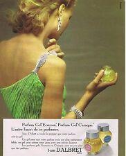 PUBLICITE ADVERTISING 045 1973 JEAN D'ALBRET parfum Gel