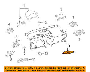 Lexus TOYOTA OEM HS250h Instrument Panel Dash-Lower Dash Cover Right 5560775020