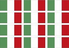 "12 - 2""x1.2"" Italy Flag Decal Italian Italia Vinyl Hard Hat Helmet Sticker"