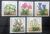 BRD Bund Michel Nr.1505-1509 Postfrisch** (1991) Pflanzen Rennsteiggarten