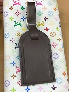 LV1812 Louis Vuitton Brown Leather Luggage Tag   Great addition for your bag!