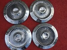 1963 FORD GALAXIE 10 1/2 INCH DOG DISH HUBCAPS HUB CAP CENTER PIECES  SET OF 4