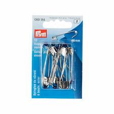 10 Kugel Sicherheitsnadeln Nadel Stahl  silberfarbig 48 mm
