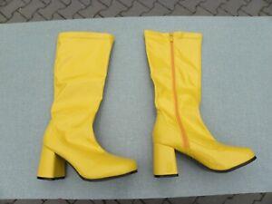 Stiefel 70er gelb Vintage