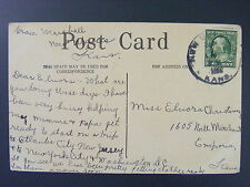 New Ulysses Kansas KS Grant County c1910 Cancel DPO 1909-1921 Antique Postcard