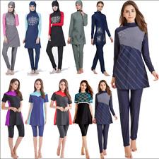 Womens Islamic Muslim Full Cover Costumes Modest Swimwear Beachwear Swimming New