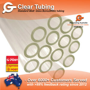Glass Tubing  10mm 1.5mm wall  borosilicate  blowing tubes pyrex  Glasstubing OZ