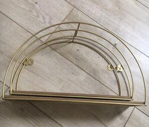 Rainbow Arch Shelf Grimms Montessori Etc 2 Pack Gold Wooden Toy Display