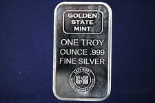Golden State Mint GSM 1 oz .999 Fine Silver Bar