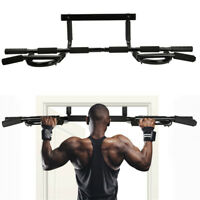 US Pull Up Bar Exercise Heavy Duty Doorway Fitness Home Gym Upper Body Workout