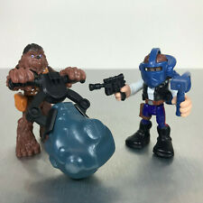 Playskool Star Wars Galactic Heroes HAN SOLO & CHEWBACCA w/Falcon accessories