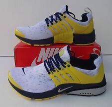 Nike Air Presto Da Uomo Taglia 9 Giallo Scarpe Da Ginnastica Scarpe Da Corsa Shox ~ Nuovo di Zecca