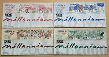 1999 2000 Malaysia Millennium Series 20v Stamps on 4 FDC (Melaka Cachet) offer