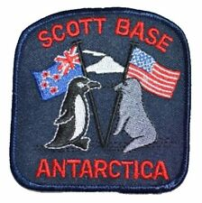 Scott Base Antarctica Vintage Embroidered Patch Penguin Seal New Zealand USA