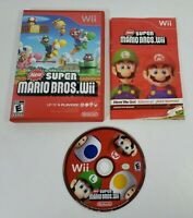 New Super Mario Bros (Nintendo Wii, 2009) CIB Complete w/Manual