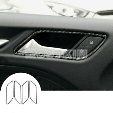 Carbon Fiber Car Door Handle Frame Trim Cover 4pcs For Audi A3 S3 2014-2018