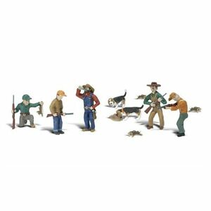 Painted Rabbit Hunt (OO/HO figures) Woodland Scenics A1903