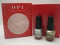 OPI Glamour & Glitter 👄 2 Full Size Bottles Nail Polish Lacquer Set Silver Gold