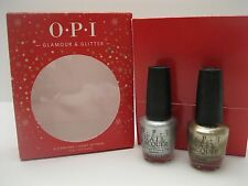 OPI Glamour & Glitter 2 Full Size Bottles Nail Polish Lacquer Set NEW IN BOX L14