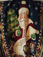 Goodwin Weavers Santa Christmas Holiday Tapestry Fringed Throw Blanket