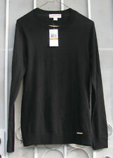 MICHAEL KORS ~ Sz S ~ Women's Cotton Blend Black BASICS Sweater NWT ~ SHIPS FREE