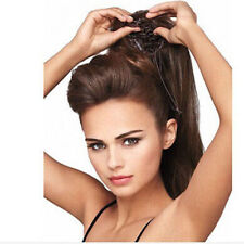 """100% Real Human Hair Ponytails Hairpiece Straight Claw Clip Ponytails  15""""-26"""""""